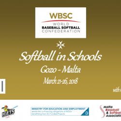 WBSC RENEWS SUPPORT FOR SOFTBALL AT SCHOOLS