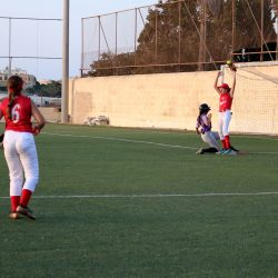 REDCOATS WIN MARRED BY INJURY TO CORINNE GRIMA